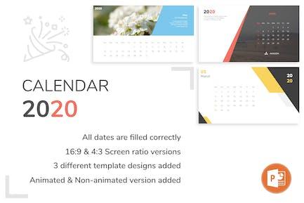 Calendar 2020 Powerpoint Template