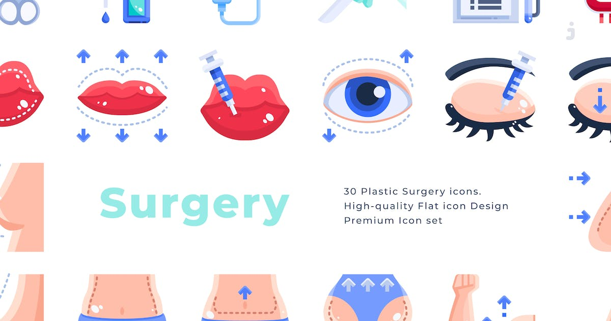 Download 30 Plastic Surgery - Flat by Justicon