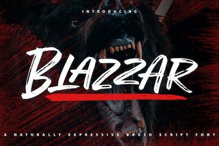 Blazzar | Expressive Brush Script Font