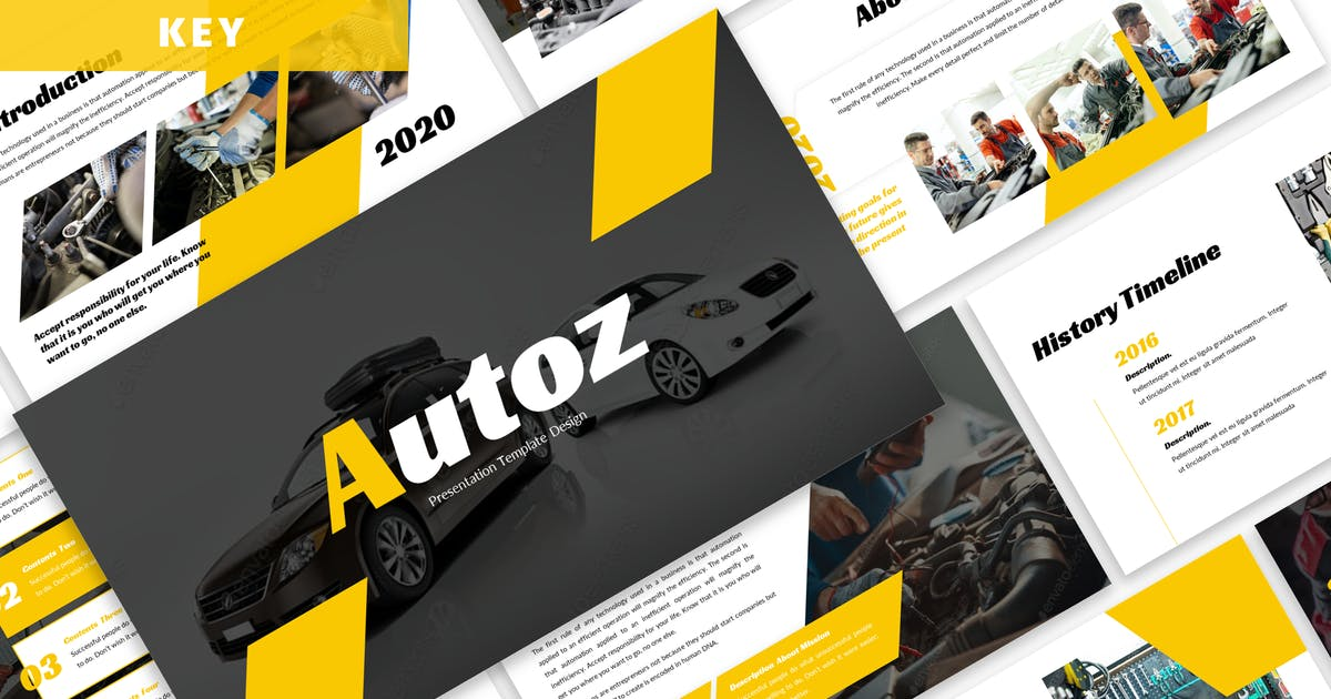 Download Autoz - Business Keynote Template by Blesstudio