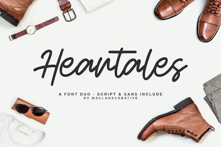 Thumbnail for Heartales - Font Duo Script Sans