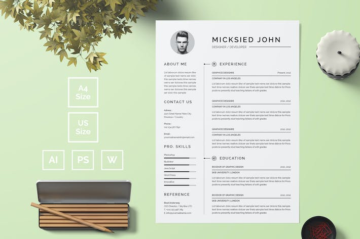 Thumbnail for Resume Template 10