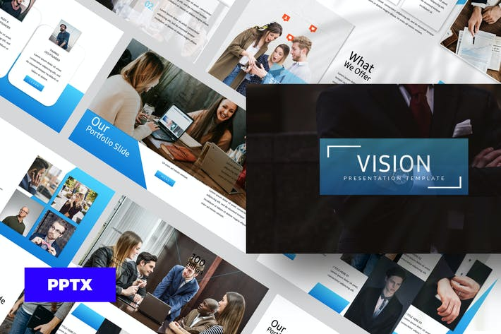 Thumbnail for Vision - Powerpoint template