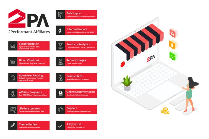 Thumbnail for 2PA - WooCommerce 2Performant Affiliates WordPress