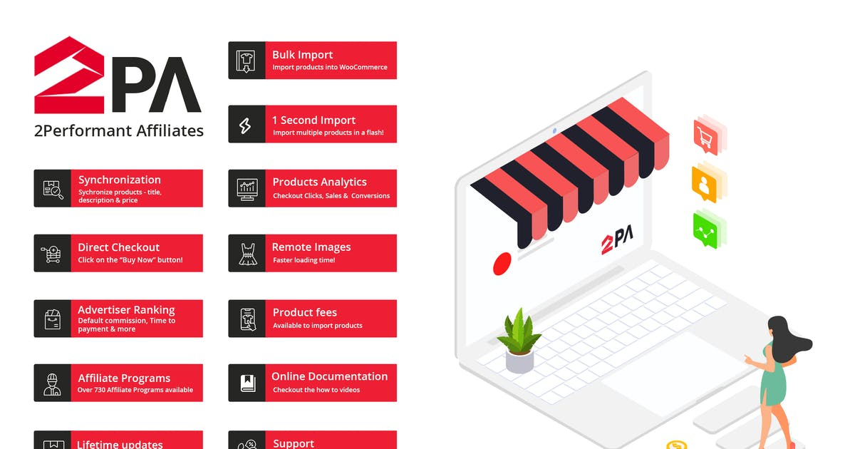 Download 2PA - WooCommerce 2Performant Affiliates WordPress by AA-Team