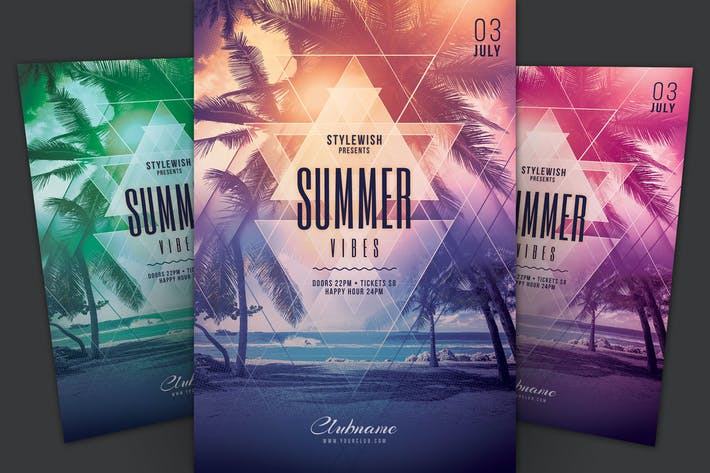 Cover Image For Summer Vibes Flyer