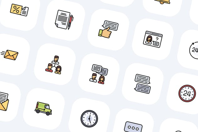 50 Customer Service Icons