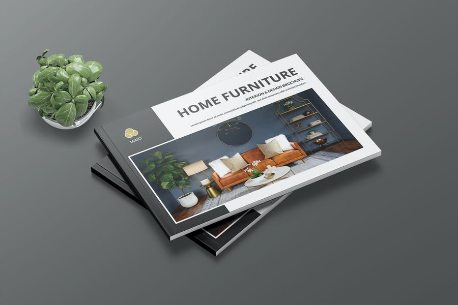 HOME FURNITUR  - A4 Interior Landscape Print Templ