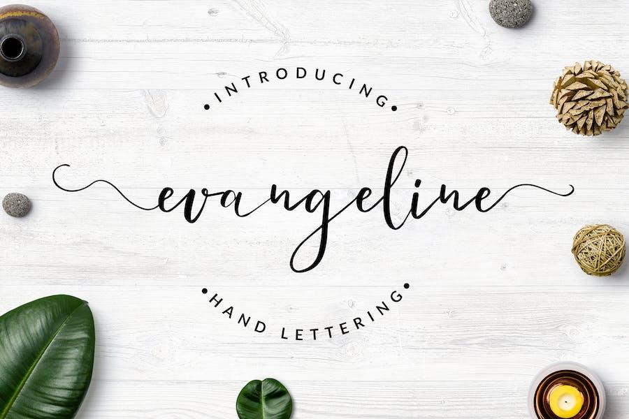 Evangeline - Hand Lettering Font