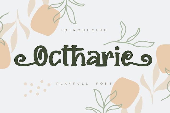 Thumbnail for Ochtarie | Playfull Font