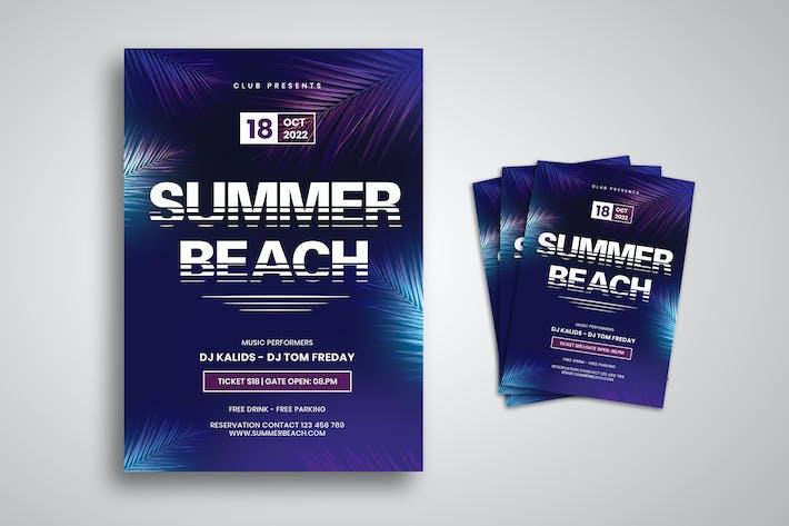 Thumbnail for Folleto de música de playa de verano