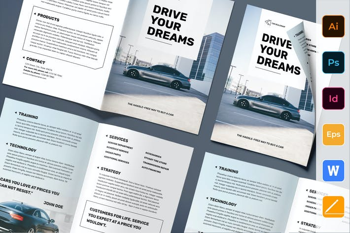 Thumbnail for Car Dealership Brochure Bifold