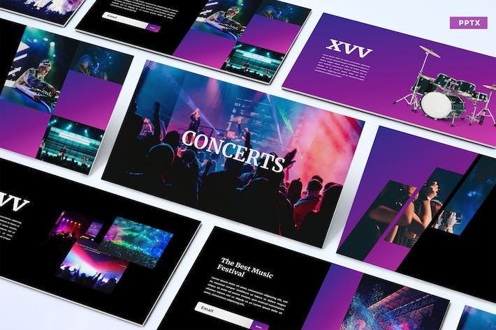 Thumbnail for Концерты - Powerpoint Шаблон