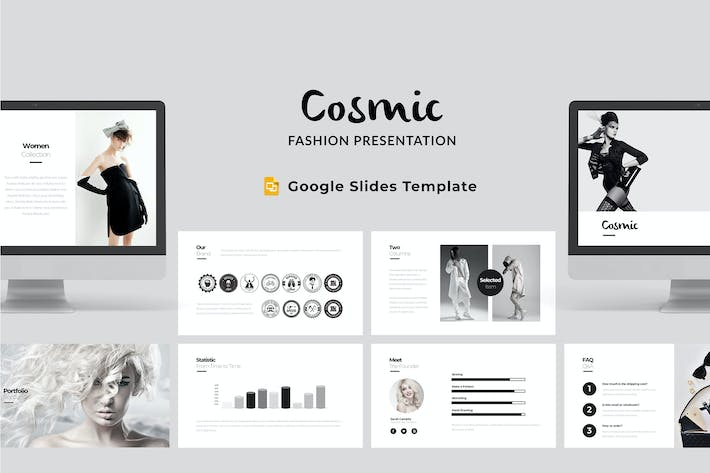 Thumbnail for Cosmic - Fashion Google Slides Template