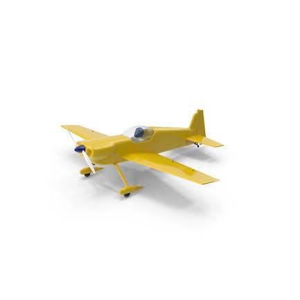Gelbe Spielzeug-Sportflugzeug