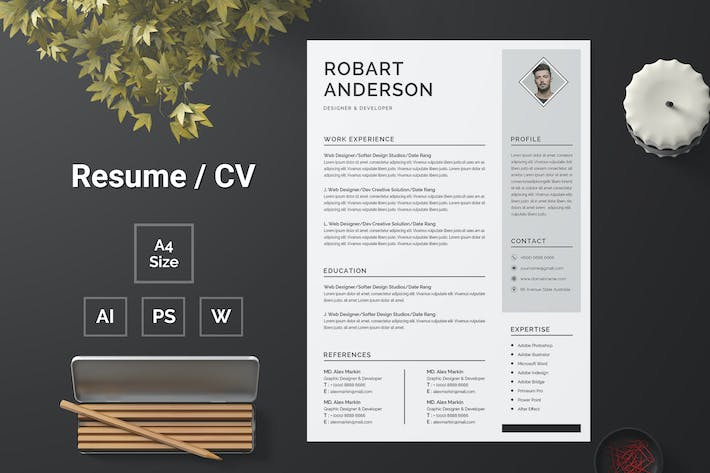 Thumbnail for Resume Template 108