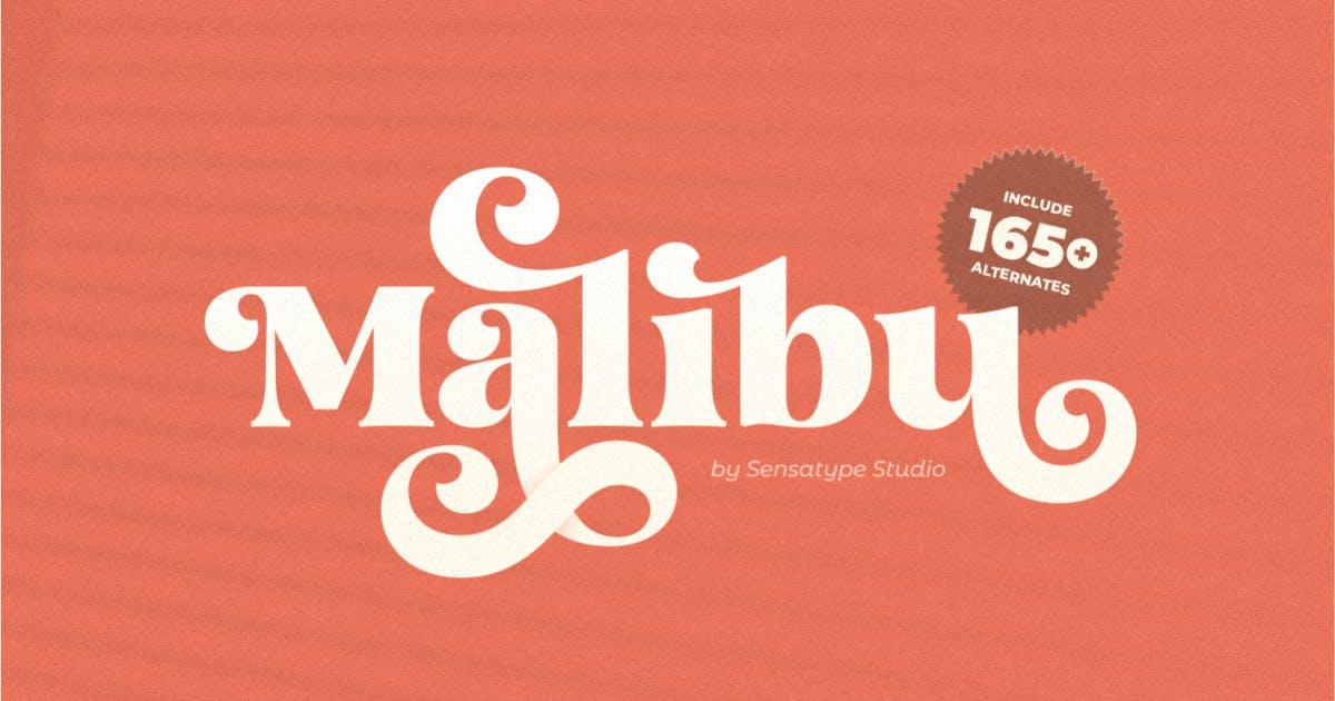 Download Malibu - Fancy Vintage Font by HamzStudio