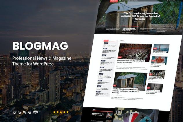 BlogMag - Professional Magazine Theme for WordPres