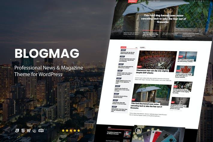 Thumbnail for BlogMag - Professional Magazine Theme for WordPres