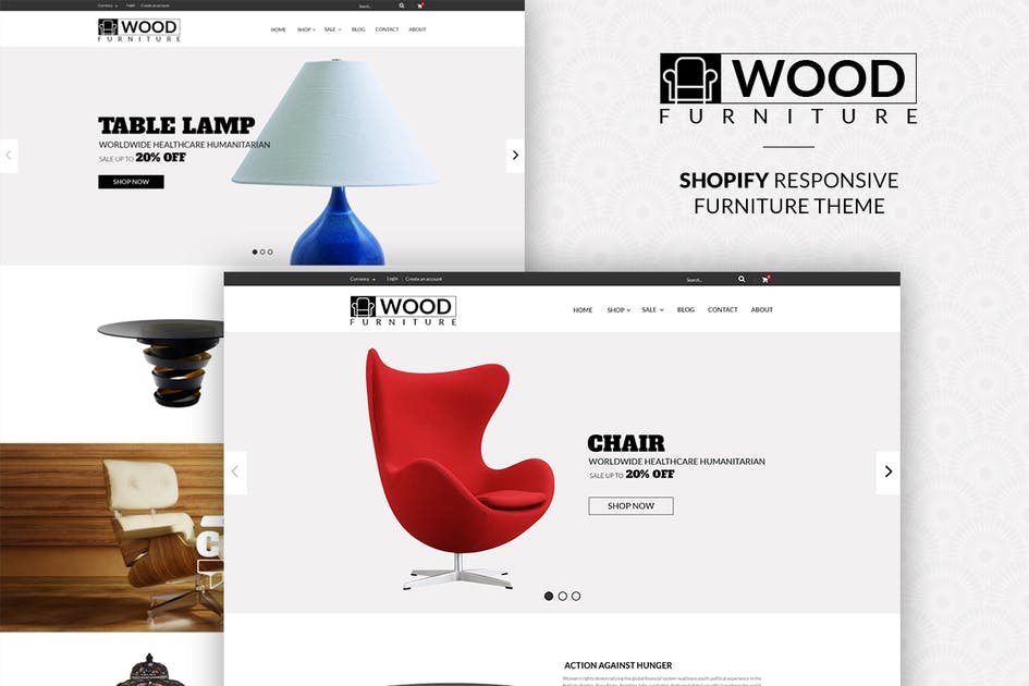 Download Parallax Shopify Theme - Wood Furniture Decoration by tvlgiao