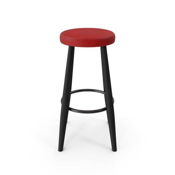 Барный стул Черный Красный