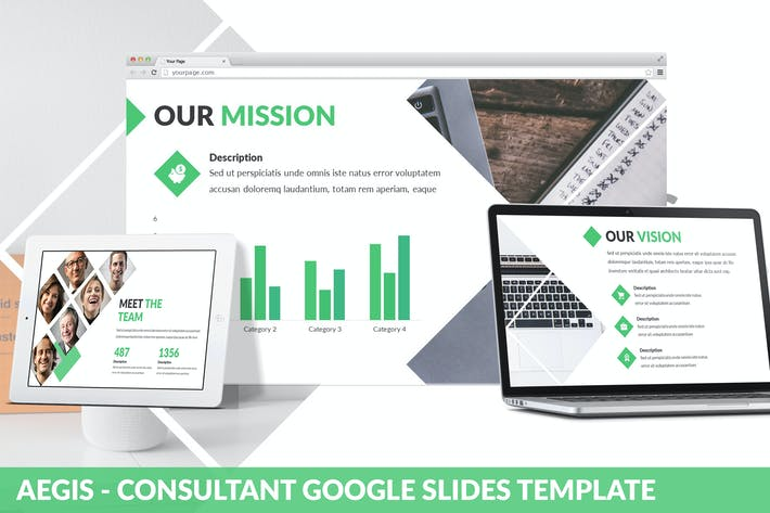 Thumbnail for Aegis - Consultant Google Slides Template