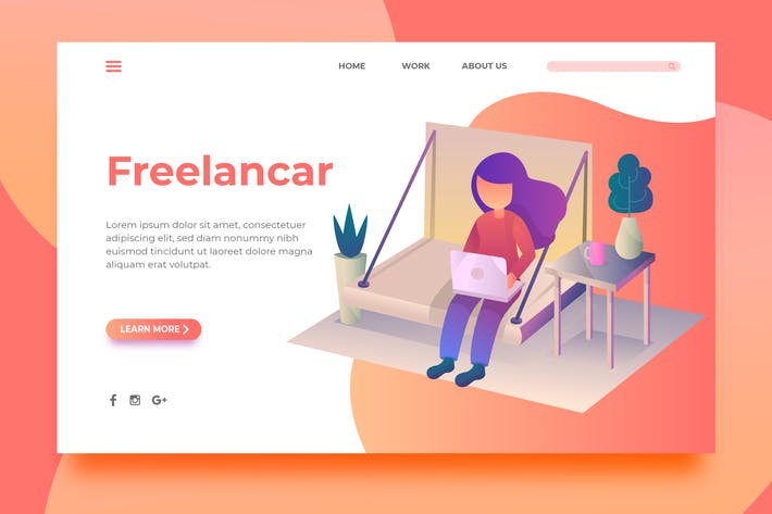 Thumbnail for Freelancar - Landing Page