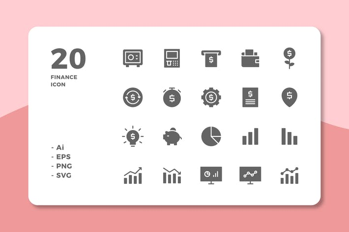 Thumbnail for 20 Finance Icons (Solid)