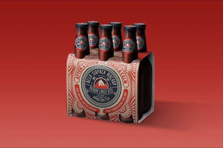Thumbnail for Beer Six Pack Box Mockup