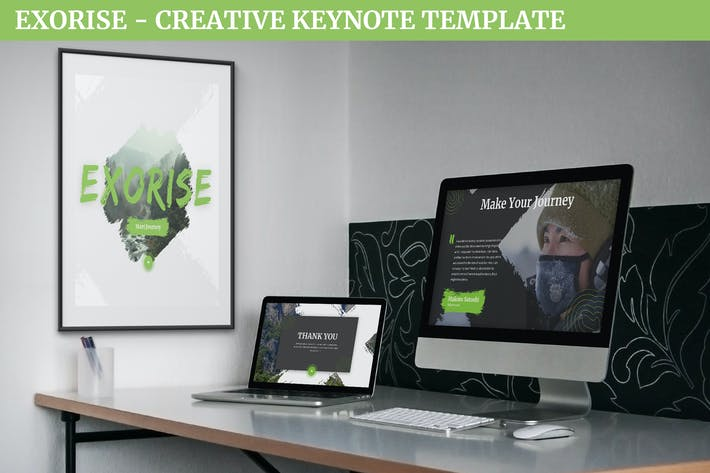 Thumbnail for Exorise - Creative Keynote Template