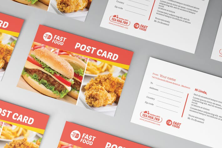 Thumbnail for Restaurant/ Fast Food Set Templates