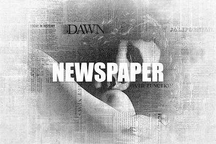 Newspaper Photoshop Effect