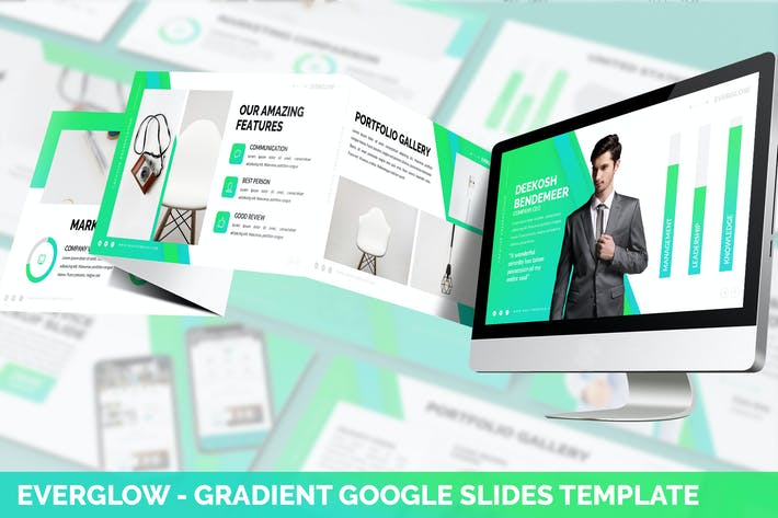 Thumbnail for Everglow - Gradient Google Slides Template
