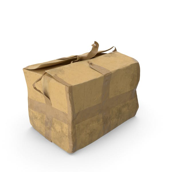 Cover Image for Old Damaged Cardboard Box