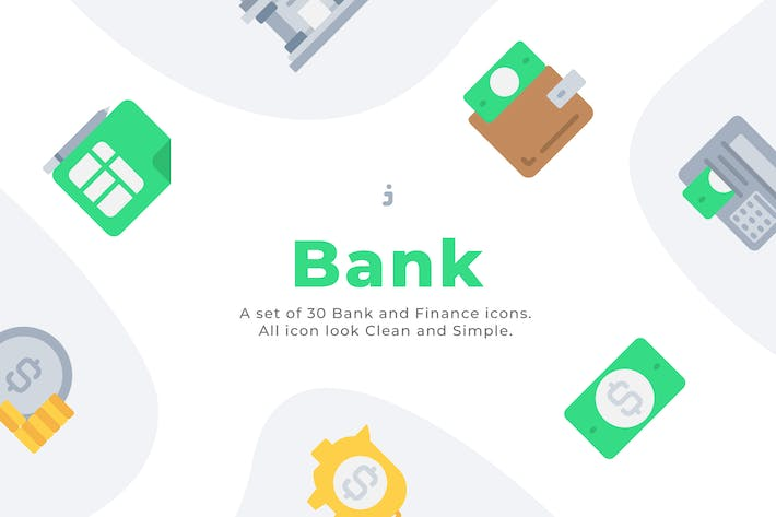 Thumbnail for 30 Bank and Finance icons - Flat