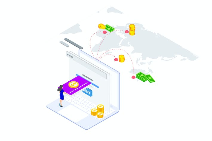 Thumbnail for Internation Payments by Finance Isometric - FV