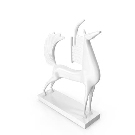 Pferd Skulptur des Gottes Ra