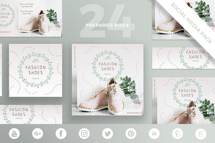 Thumbnail for Fashion Shoes Social Media Pack Template
