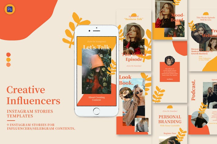 Thumbnail for Creative Influencer Instagram Stories Template