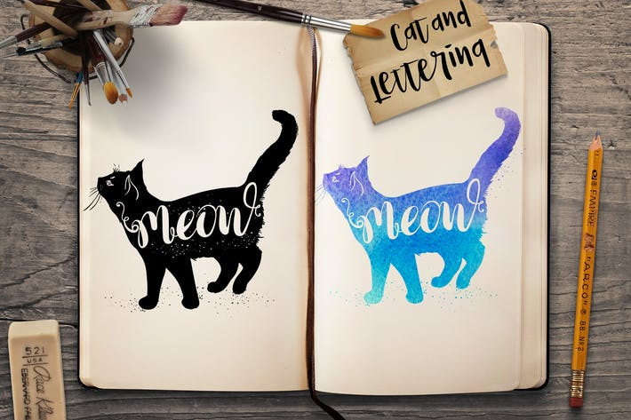 Thumbnail for Cat and Lettering