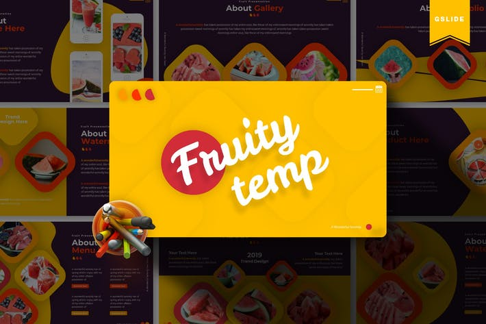 Thumbnail for Fruity | Google Slides Template
