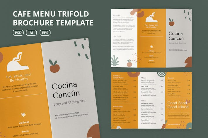 Thumbnail for Cafe Menu Brochure Template