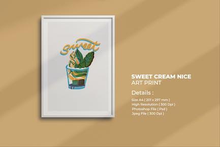 Süße Eiscreme