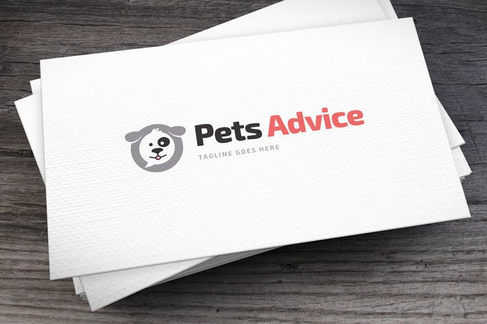 Thumbnail for Pets Advice Logo Template