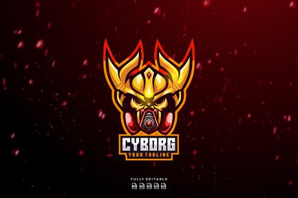 Cyborg Mask Esport Logo