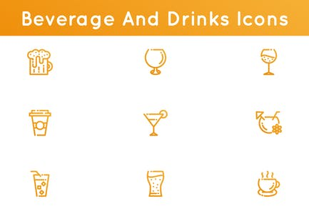 Beverages And Drinks Icons