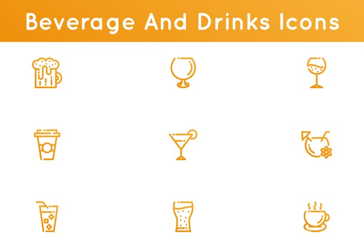 Thumbnail for Beverages And Drinks Icons