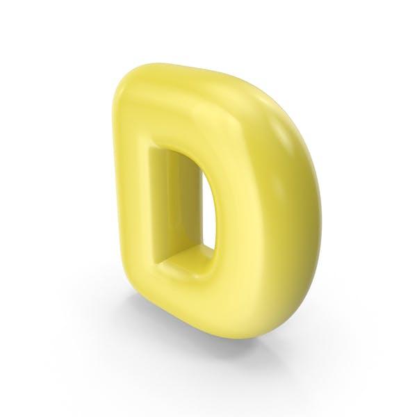 Thumbnail for Yellow Toon Balloon Letter D