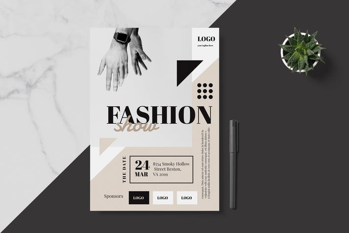 Thumbnail for Minimal Fashion Event Flyer Poster