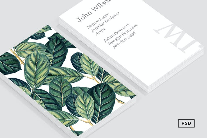 Thumbnail for Botany Business Card Template